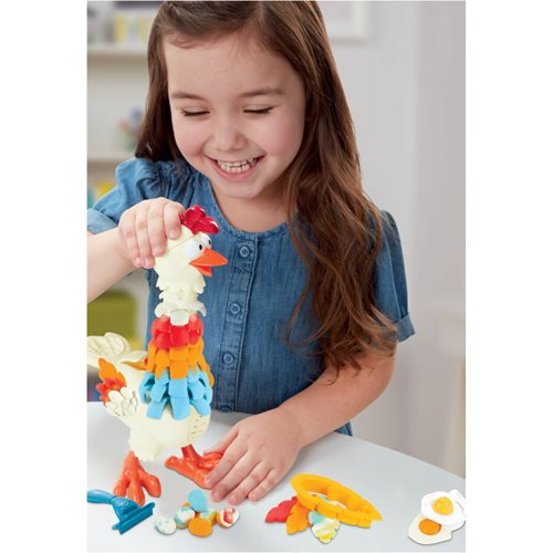 Play-Doh Animal Crew Cluck-a-Dee Feather Chicken Toy
