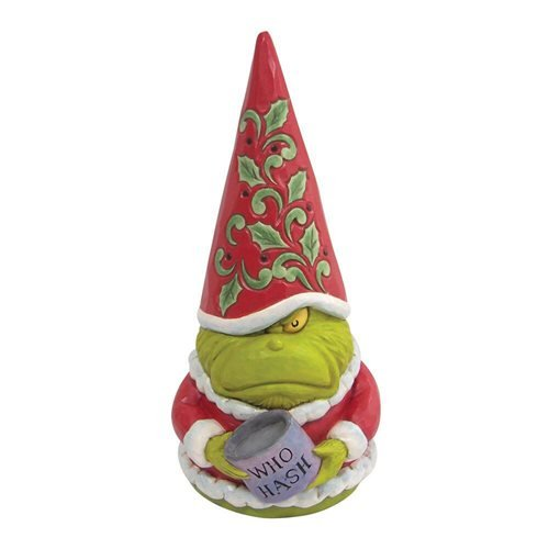 Dr. Seuss The Grinch Grinch Gnome with Who Hash by Jim Shore Statue