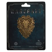 Warcraft Alliance Distressed Bronze Icon Pin