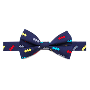 Batman Classic Multi-Color Boys Large Silk Bowtie