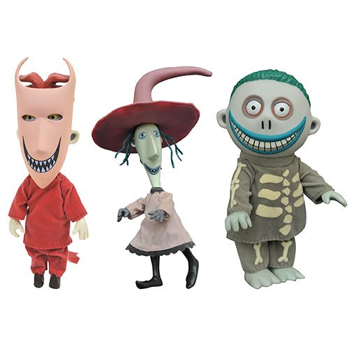 Nightmare Before Christmas Lock, Shock, and Barrel 3-Pack Deluxe Doll Set, Not Mint