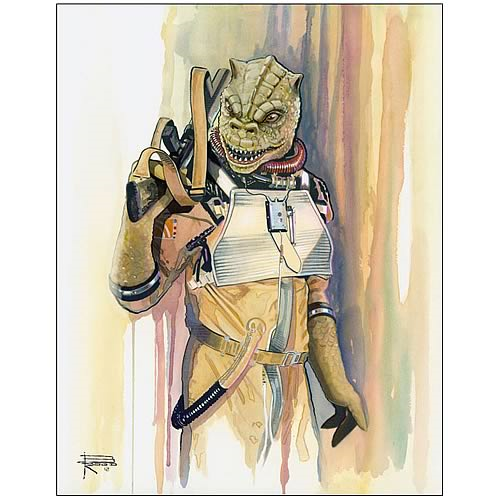 Star Wars Bossk Bounty Hunter Collection Fine Art Lithograph