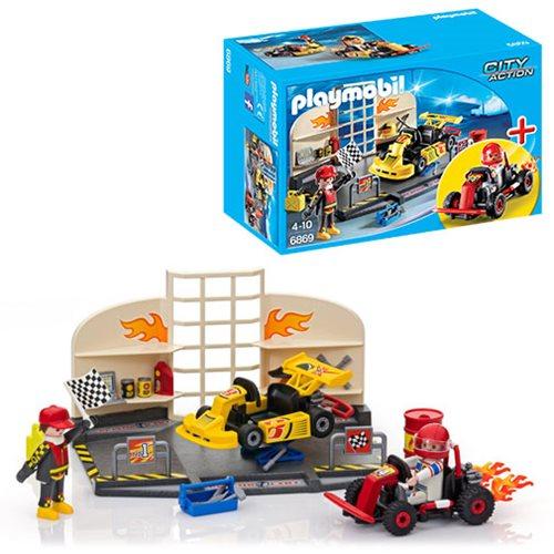 Playmobil 6869 Go Kart Garage Starter Set Entertainment Earth