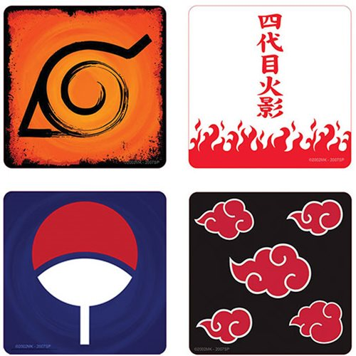 Naruto Shippuden 4-Pack Coaster Set