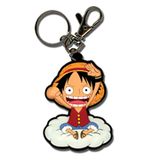 One Piece Luffy on the Cloud Key Chain