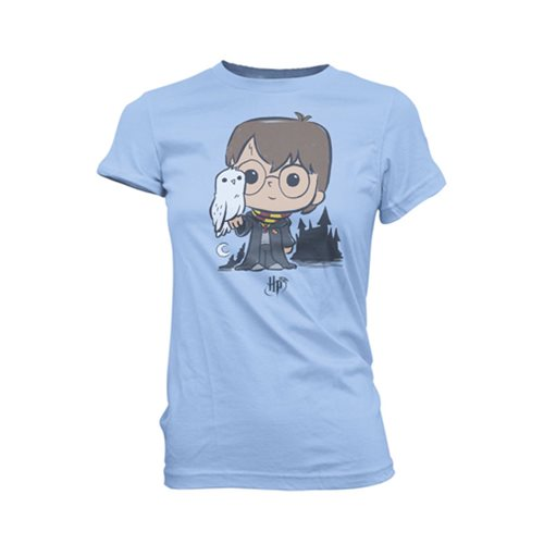 Harry Potter and Hedwig Super Cute Juniors T-Shirt
