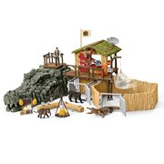 Wild Life Croco Jungle Research Station Playset