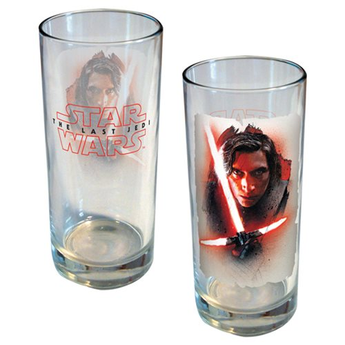 Star Wars: The Last Jedi Kylo Ren Brushstroke Portrait 15 oz. Glass