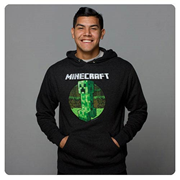 Minecraft Retro Creeper Premium Charcoal Heather Hoodie