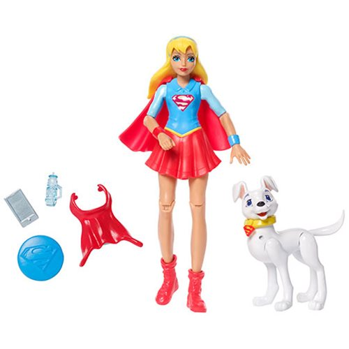 DC Super Hero Girls Supergirl Action Figure with Pet