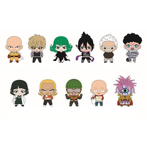 One Punch Man Figural Key Chain Random 6-Pack