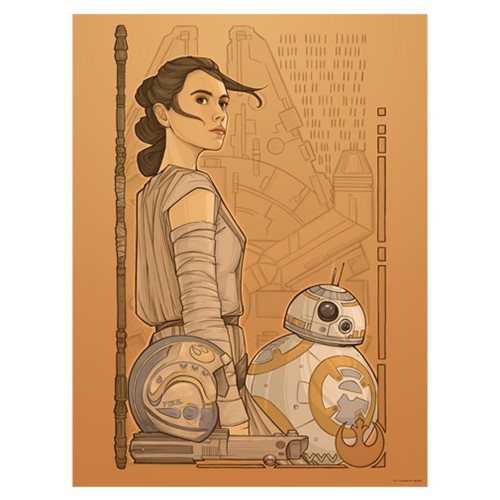 Star Wars: The Force Awakens Beyond Jakku by Karen Hallion Lithograph Art Print