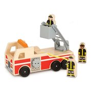 Melissa & Doug Wooden Classic Fire Truck Play Set
