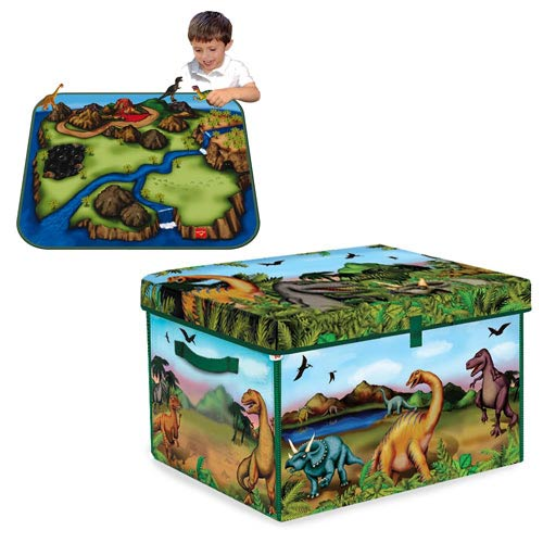 Dinosaur ZipBin Collector Toy Box and Playmat Carry Case