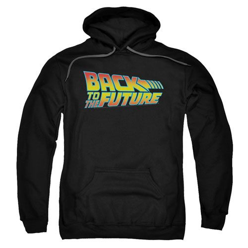 Back to the Future Logo Black Hoodie