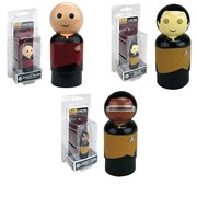 Star Trek: The Next Generation Picard, Data, and La Forge Pin Mates Wooden Collectibles Set