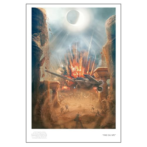 Star Wars The Escape by Akirant Paper Giclee Art Print