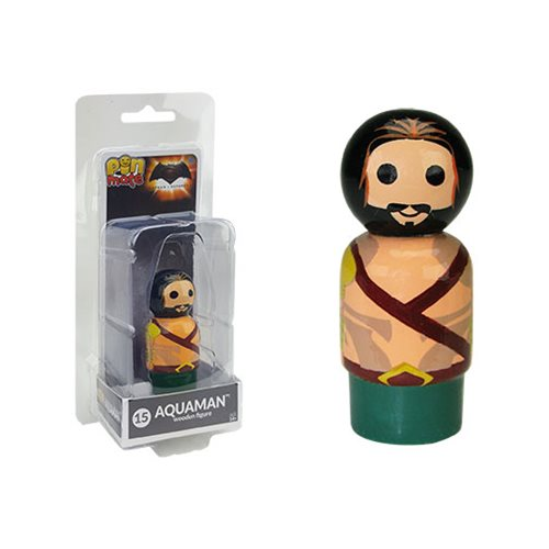 Batman v Superman: Dawn of Justice Aquaman Pin Mate Wooden Figure
