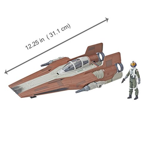 Star Wars Force Link 2.0 Resistance A-wing Fighter Vehicle with Resistance Pilot Action Figure - Exc