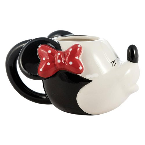 Mickey Mouse and Minnie Kissing Sculpted Ceramic Mug Set