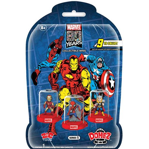 Marvel 80th Domez S1 Mini-Figures Blind 18-Pack Display Tray