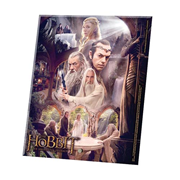 Hobbit An Unexpected Journey The White Council Curved Glass StarFire Print