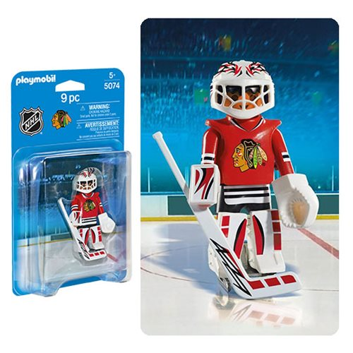 Playmobil 5074 NHL Chicago Blackhawks Goalie Action Figure