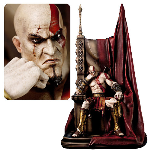 God of War Kratos on Throne 1:4 Scale Statue