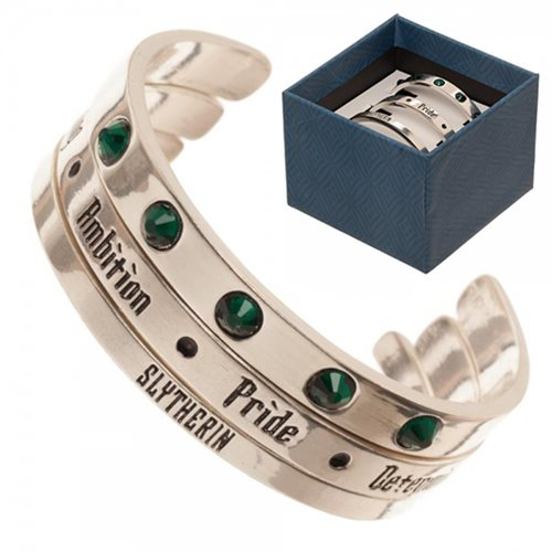 Harry Potter Slytherin Cuff Bracelet 3-Pack Set