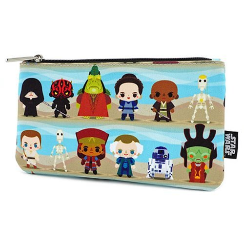 Star Wars Phantom Menace Chibi Character Print Pencil Case
