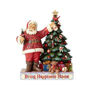 Coca-Cola Santa with Tree Bring Happiness Home Statue by Jim Shore