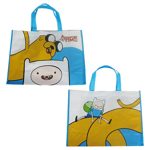 Adventure Time with Finn and Jake Large Recycled Shopper Tote
