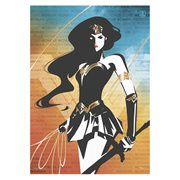 Justice League Wonder Woman Words Strength MightyPrint Wall Art