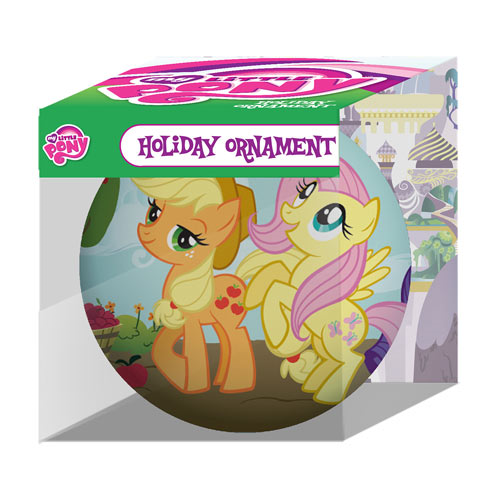My Little Pony Rarity Applejack and Fluttershy Group Holiday Ball Ornament