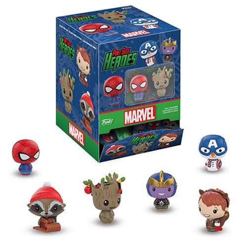 Marvel Holiday Pint Size Heroes Mini Figure Display Case