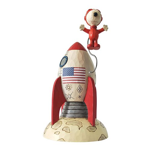 Peanuts Snoopy Astronaut The Beagle Has Landed by Jim Shore Statue