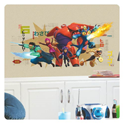 Big Hero 6 Marvel Wall Graphix Peel and Stick Giant Wall Decal