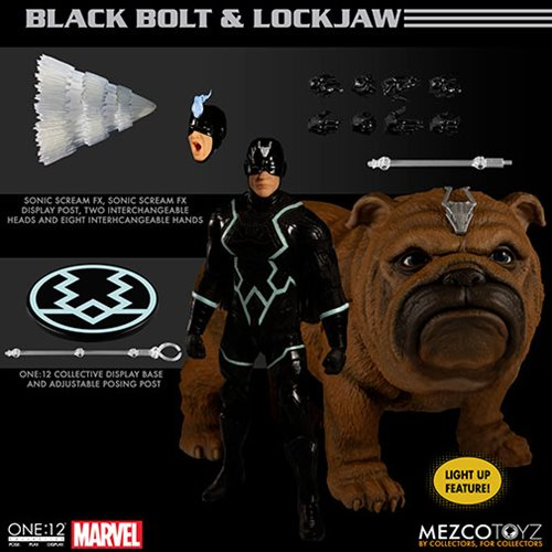 Black Bolt and Lockjaw One:12 Collective Action Figure