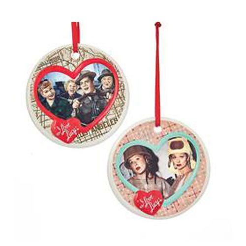 I Love Lucy Porcelain Disc Ornament Set