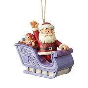 Rudolph the Red-Nosed Reindeer Santa In Sleigh by Jim Shore Ornament