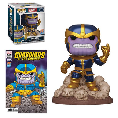 Guardians of the Galaxy Marvel Heroes Thanos Snap 6-Inch Pop! Vinyl Figure Case with Variant Comic - Previews Exclusive