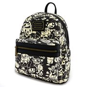 Cuphead Black and White Print Mini Backpack