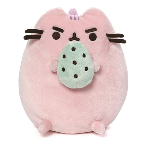 Pusheen the Cat Pusheenosaurus Standing with Egg 6-Inch Cotton Candy Pink Plush