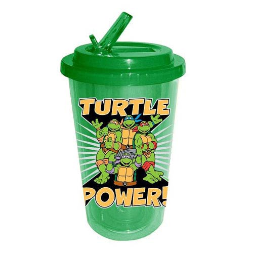 Teenage Mutant Ninja Turtles Turtle Power! Plastic Flip Straw Cup