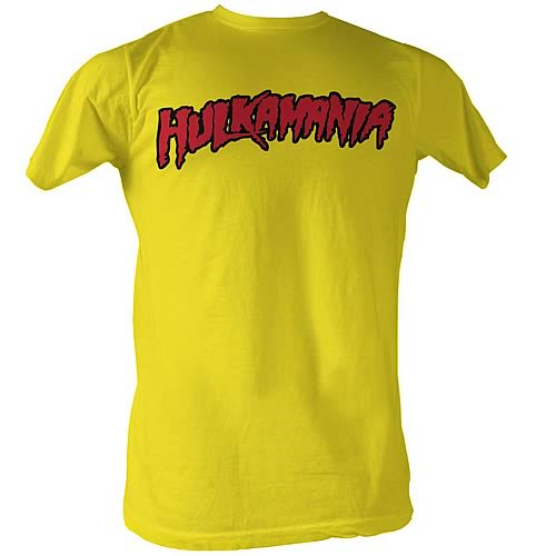 Hulk Hogan Hulkamania Yellow T-Shirt