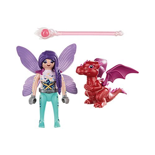Playmobil 70299 Special Plus Fairy with Baby Dragon Action Figure