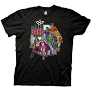 Big Bang Theory Comic Book Extruded Logo Black T-Shirt