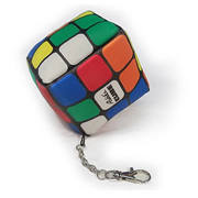 Rubik's Cube Plush Key Chain