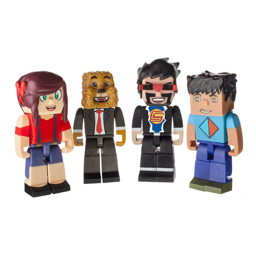 Tube Heroes Deluxe Gaming 2 3/4-Inch Mini-Figure 4-Pack