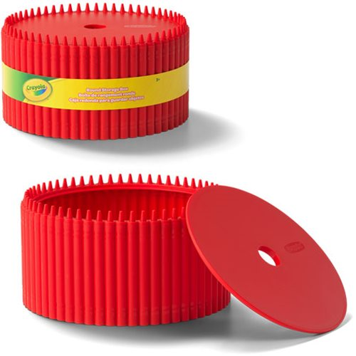 Crayola Red Round Storage Box